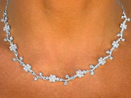 W8360NEB - AUSTRIAN CRYSTAL FLOWER<Br>     NECKLACE, EARRINGS, & BRACELET<Br>       YOUR LOW PRICE IS ONLY $21.94
