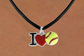 "<bR>               SOFTBALL NECKLACE - ADJUSTABLE<BR>         <BR>       <BR>              LEAD & NICKEL FREE!!<BR>    W841N3 - ""I LOVE SOFT BALL""<Br>  NECKLACE  $8.68 EACH   &#169;2011"