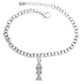 <bR>      WHOLESALE FASHION SORORITY JEWELRY  <BR>                     EXCLUSIVELY OURS!!  <BR>                AN ALLAN ROBIN DESIGN!!   <BR>               HYPOALLERGENIC - SAFE !!  <BR>          LEAD, NICKEL & CADMIUM FREE!!   <BR> W847B2 - OFFICIAL SILVER TONE GREEK <BR> ALPHA XI DELTA SORORITY CHARM ON CHAIN <Br> LINK BRACELET FROM $5.90 TO $9.25 �2015