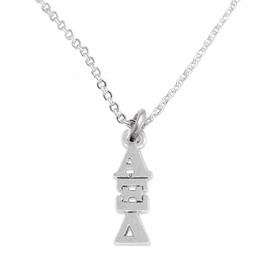 <bR>      WHOLESALE FASHION SORORITY JEWELRY  <BR>                     EXCLUSIVELY OURS!!  <BR>                AN ALLAN ROBIN DESIGN!!   <BR>               HYPOALLERGENIC - SAFE !!  <BR>          LEAD, NICKEL & CADMIUM FREE!!   <BR> W847N1 - OFFICIAL SILVER TONE GREEK <BR> ALPHA XI DELTA SORORITY CHARM ON LOBSTER<Br> CLASP NECKLACE FROM $5.90 TO $9.25 �2015