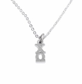 <bR>      WHOLESALE FASHION SORORITY JEWELRY  <BR>                     EXCLUSIVELY OURS!!  <BR>                AN ALLAN ROBIN DESIGN!!   <BR>               HYPOALLERGENIC - SAFE !!  <BR>          LEAD, NICKEL & CADMIUM FREE!!   <BR> W849N1 - OFFICIAL SILVER TONE GREEK <BR>  CHI OMEGA SORORITY CHARM ON LOBSTER<Br> CLASP NECKLACE FROM $5.90 TO $9.25 �2015