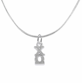 <bR>      WHOLESALE FASHION SORORITY JEWELRY  <BR>                     EXCLUSIVELY OURS!!  <BR>                AN ALLAN ROBIN DESIGN!!   <BR>               HYPOALLERGENIC - SAFE !!  <BR>          LEAD, NICKEL & CADMIUM FREE!!   <BR> W849N2 - OFFICIAL SILVER TONE GREEK <BR>  CHI OMEGA SORORITY CHARM ON SNAKE <Br> CHAIN NECKLACE FROM $5.90 TO $9.25 �2015
