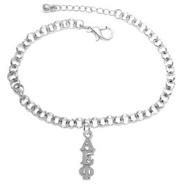 <bR>      WHOLESALE FASHION SORORITY JEWELRY  <BR>                     EXCLUSIVELY OURS!!  <BR>                AN ALLAN ROBIN DESIGN!!   <BR>               HYPOALLERGENIC - SAFE !!  <BR>          LEAD, NICKEL & CADMIUM FREE!!   <BR> W867B2 - OFFICIAL SILVER TONE GREEK <BR> ALPHA EPSILON PHI SORORITY CHARM ON LOBSTER <Br> CLASP BRACELET FROM $5.90 TO $9.25 �2015