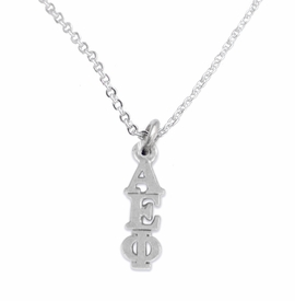 <bR>      WHOLESALE FASHION SORORITY JEWELRY  <BR>                     EXCLUSIVELY OURS!!  <BR>                AN ALLAN ROBIN DESIGN!!   <BR>               HYPOALLERGENIC - SAFE !!  <BR>          LEAD, NICKEL & CADMIUM FREE!!   <BR> W867SN1 - OFFICIAL SILVER TONE GREEK <BR> ALPHA EPSILON PHI SORORITY CHARM ON LOBSTER <Br> CLASP NECKLACE FROM $5.90 TO $9.25 �2015