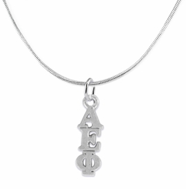 <bR>      WHOLESALE FASHION SORORITY JEWELRY  <BR>                     EXCLUSIVELY OURS!!  <BR>                AN ALLAN ROBIN DESIGN!!   <BR>               HYPOALLERGENIC - SAFE !!  <BR>          LEAD, NICKEL & CADMIUM FREE!!   <BR> W867SN2 - OFFICIAL SILVER TONE GREEK <BR> ALPHA EPSILON PHI SORORITY CHARM ON SNAKE <Br> CHAIN NECKLACE FROM $5.90 TO $9.25 �2015