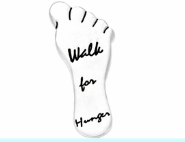 """<bR>W8756P - POLISHED SILVER FINISH<Br>  """"WALK FOR HUNGER"""" FOOTPRINT<Br>           TACK PIN AS LOW AS $.95<br>   EXCLUSIVELY OURS! WE ARE THE<Br>ONLY MANUFACTURER OF THIS PIN!"""
