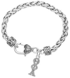 <bR>       WHOLESALE FASHION SORORITY JEWELRY   <BR>                       EXCLUSIVELY OURS!!   <BR>                  AN ALLAN ROBIN DESIGN!!    <BR>                 HYPOALLERGENIC - SAFE !!   <BR>            LEAD, NICKEL & CADMIUM FREE!!    <BR>      W897B1 - OFFICIAL SILVER TONE GREEK  <BR>  THETA PHI ALPHA SORORITY CHARM ON HEART <Br> CLASP BRACELET FROM $5.90 TO $9.25 �2015