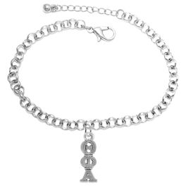 <bR>       WHOLESALE FASHION SORORITY JEWELRY   <BR>                       EXCLUSIVELY OURS!!   <BR>                  AN ALLAN ROBIN DESIGN!!    <BR>                 HYPOALLERGENIC - SAFE !!   <BR>            LEAD, NICKEL & CADMIUM FREE!!    <BR>      W897B2 - OFFICIAL SILVER TONE GREEK  <BR>THETA PHI ALPHA SORORITY CHARM ON LOBSTER <Br> CLASP BRACELET FROM $5.90 TO $9.25 �2015