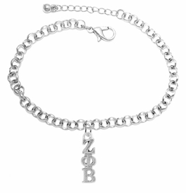 <bR>      WHOLESALE FASHION SORORITY JEWELRY   <BR>                       EXCLUSIVELY OURS!!   <BR>                  AN ALLAN ROBIN DESIGN!!    <BR>                 HYPOALLERGENIC - SAFE !!   <BR>            LEAD, NICKEL & CADMIUM FREE!!    <BR>      W899B2 - OFFICIAL SILVER TONE GREEK  <BR>  ZETA PHI BETA SORORITY CHARM ON LOBSTER <Br> CLASP BRACELET FROM $5.90 TO $9.25 �2015