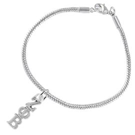 <bR>      WHOLESALE FASHION SORORITY JEWELRY   <BR>                       EXCLUSIVELY OURS!!   <BR>                  AN ALLAN ROBIN DESIGN!!    <BR>                 HYPOALLERGENIC - SAFE !!   <BR>            LEAD, NICKEL & CADMIUM FREE!!    <BR>      W899B7 - OFFICIAL SILVER TONE GREEK  <BR>    ZETA PHI BETA SORORITY CHARM ON SNAKE <Br> CHAIN BRACELET FROM $5.90 TO $9.25 �2015