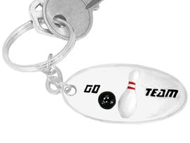 "<bR>   W9288KC - ""GO TEAM"" 3-D BOWLING<br>SILVER TONE KEY CHAIN AS LOW AS $2.50<br>    EXCLUSIVELY OURS! WE ARE THE ONLY<Br>                          MANUFACTURER!"