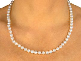 <BR>     EACH PEARL IS KNOTTED BY HAND <BR>               LEAD AND NICKEL FREE!!<BR>W9428N - SINGLE STRAND  8mm GLASS< Br>                     WHITE FAUX PEARL <Br>     NECKLACE FROM $5.25 TO $12.25