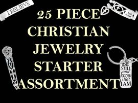 <bR>W9454JA - 25 PIECE CHRISTIAN JEWELRY<br>                  STARTER ASSORTMENT!<BR>          YOUR LOW PRICE ONLY $119.69