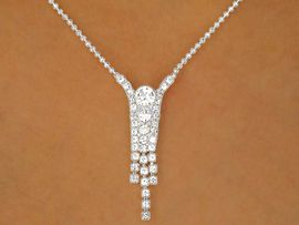 W9682NE - RADIANT AUSTRIAN CRYSTAL<Br>   BALL CHAIN NECKLACE & EARRINGS<Br>        YOUR LOW PRICE IS ONLY $9.75