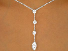 <bR>  W9684NE - POLISHED SILVER TONE<br>MULTI AUSTRIAN CRYSTAL STRAND<Br>             NECKLACE & EARRINGS<br>    YOUR LOW PRICE IS ONLY $13.00