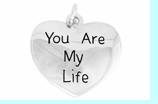 """W981SC - """"YOU ARE MY LIFE"""" HEART  �09 $3.68 Each"""