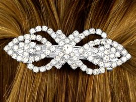 W9981HJ - GENUINE AUSTRIAN CRYSTAL<br>                          SMALL HAIR CLIP<bR>          YOUR LOW PRICE IS ONLY $7.31