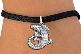 <BR>  WHOLESALE ANIMAL CHARM BRACELET <bR>                EXCLUSIVELY OURS!! <Br>           AN ALLAN ROBIN DESIGN!! <BR>  CLICK HERE TO SEE 1000+ EXCITING <BR>        CHANGES THAT YOU CAN MAKE! <BR>     LEAD, NICKEL & CADMIUM FREE!! <BR> W1436SB - SILVER TONE CLEAR CRYSTAL <BR> CURLED CROCODILE CHARM & BRACELET <BR>         FROM $5.40 TO $9.85 �2013