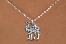 <BR>   WHOLESALE ANIMAL NECKLACE JEWELRY <bR>                   EXCLUSIVELY OURS!! <Br>              AN ALLAN ROBIN DESIGN!! <BR>     CLICK HERE TO SEE 1000+ EXCITING <BR>           CHANGES THAT YOU CAN MAKE! <BR>        LEAD, NICKEL & CADMIUM FREE!! <BR>   W1511SN - ANTIQUED SILVER TONE AND <BR>  AUSTRIAN CLEAR CRYSTAL CAMEL CHARM  <BR>    NECKLACE FROM $5.40 TO $9.85 �2013