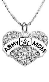 """<Br>              WHOLESALE  ARMY MOM JEWELRY  <BR>                         AN ALLAN ROBIN DESIGN!! <Br>                   CADMIUM, LEAD & NICKEL FREE!!  <Br> W1808N1  """"ARMY MOM"""" HEART  <BR>  CHARM ON HEART ADJUSTABLE NECKLACE <BR>            FROM $7.50 TO $9.50 �2016"""