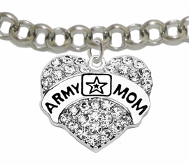 "<Br>              WHOLESALE  ARMY MOM JEWELRY  <BR>                         AN ALLAN ROBIN DESIGN!! <Br>                   CADMIUM, LEAD & NICKEL FREE!!  <Br> W1808B2  ""ARMY MOM"" HEART  <BR>  CHARM ON LOBSTER CLASP ADJUSTABLE BRACELET <BR>            FROM $7.50 TO $9.50 �2016"