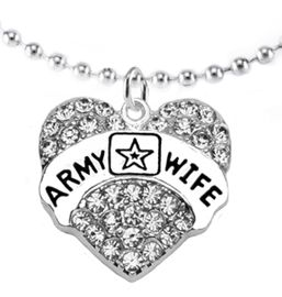 "<Br>             WHOLESALE  ARMY WIFE JEWELRY  <BR>                         AN ALLAN ROBIN DESIGN!! <Br>                   CADMIUM, LEAD & NICKEL FREE!!  <Br>                           W1809N5 ""ARMY WIFE"" HEART  <BR>CHARM, ADJUSTABLE  BALL CHAIN NECKLACE <BR>                      FROM $7.50 TO $9.50 �2016"