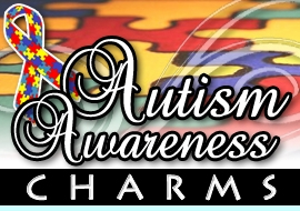 <BR>WHOLESALE AUTISM AWARENESS CHARMS <BR> CADMIUM, LEAD AND NICKEL FREE <BR>             SOLD INDIVIDUALLY