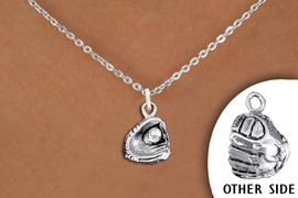 <br>           WHOLESALE BALL NECKLACE<bR>               EXCLUSIVELY OURS!! <BR>          AN ALLAN ROBIN DESIGN!! <BR> CLICK HERE TO SEE 1000+ EXCITING <BR>       CHANGES THAT YOU CAN MAKE! <BR>    CADMIUM, LEAD & NICKEL FREE!! <BR>   W1406SN - DETAILED SILVER TONE <Br>BASEBALL  / SOFTBALL MITT CHARM & <BR>  NECKLACE FROM $4.50 TO $8.35 �2013