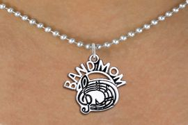 "<br>            WHOLESALE BAND JEWELRY <bR>                    EXCLUSIVELY OURS!! <BR>               AN ALLAN ROBIN DESIGN!! <BR>      CLICK HERE TO SEE 1000+ EXCITING <BR>            CHANGES THAT YOU CAN MAKE! <BR>         CADMIUM, LEAD & NICKEL FREE!! <BR>        W1485SN - DETAILED SILVER TONE <BR>    ""BAND MOM"" MUSIC CHARM & NECKLACE <BR>              FROM $4.85 TO $8.30 �2013"