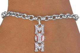 "<BR> WHOLESALE BASEBALL CHARM BRACELET <bR>                EXCLUSIVELY OURS!! <Br>           AN ALLAN ROBIN DESIGN!! <BR>  CLICK HERE TO SEE 1000+ EXCITING <BR>        CHANGES THAT YOU CAN MAKE! <BR>     LEAD, NICKEL & CADMIUM FREE!! <BR> W1473SB - SILVER TONE BASEBALL ""MOM"" <BR>    CLEAR CRYSTAL CHARM & BRACELET <BR>         FROM $5.40 TO $9.85 �2013"