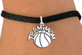 """<br> WHOLESALE BASKETBALL CHARM BRACELET <bR>                     EXCLUSIVELY OURS!! <BR>                AN ALLAN ROBIN DESIGN!! <BR>       CLICK HERE TO SEE 1000+ EXCITING <BR>             CHANGES THAT YOU CAN MAKE! <BR>          CADMIUM, LEAD & NICKEL FREE!! <BR>        W1487SB - DETAILED SILVER TONE <Br> """"TEAM MOM"""" BASKETBALL CHARM & BRACELET <BR>              FROM $4.15 TO $8.00 �2013"""