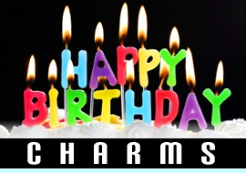<BR>    WHOLESALE BIRTHDAY CHARMS <BR> CADMIUM, LEAD AND NICKEL FREE <BR>             SOLD INDIVIDUALLY