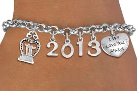 <br> WHOLESALE BRIDAL CHARM BRACELETS! <Br>                     EXCLUSIVELY OURS!!<Br>                AN ALLAN ROBIN DESIGN!!<Br>             LEAD, CADMIUM, & NICKEL FREE!! <BR>           THIS IS A PERSONALIZED ITEM <Br>   W20395B - SILVER TONE LOBSTER CLASP <BR>    BRIDAL THEMED CUSTOM YEAR BRACELET <BR>           FROM $9.00 TO $20.00 �2013