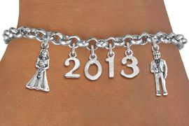 <br> WHOLESALE BRIDAL CHARM BRACELETS! <Br>                     EXCLUSIVELY OURS!!<Br>                AN ALLAN ROBIN DESIGN!!<Br>                  LEAD & NICKEL FREE!! <BR>           THIS IS A PERSONALIZED ITEM <Br>   W20397B - SILVER TONE LOBSTER CLASP <BR>   BRIDE & GROOM, CUSTOM YEAR BRACELET <BR>           FROM $9.00 TO $20.00 �2013
