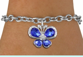 <BR>      WHOLESALE BUTTERFLY JEWELRY<bR>                 EXCLUSIVELY OURS!! <Br>             AN ALLAN ROBIN DESIGN!! <BR>    CLICK HERE TO SEE 1000+ EXCITING <BR>       CHANGES THAT YOU CAN MAKE!<BR>       LEAD, NICKEL & CADMIUM FREE!! <BR>    W1395SB - SILVER TONE AND BLUE <BR> CRYSTAL BUTTERFLY CHARM & BRACELET <BR>         FROM $5.40 TO $9.85 �2013