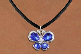 <BR>      WHOLESALE BUTTERFLY NECKLACE<bR>                    EXCLUSIVELY OURS!! <Br>                AN ALLAN ROBIN DESIGN!! <BR>       CLICK HERE TO SEE 1000+ EXCITING <BR>          CHANGES THAT YOU CAN MAKE! <BR>         LEAD, NICKEL & CADMIUM FREE!! <BR>  W1395SN - SILVER TONE AND BLUE <BR> CRYSTAL BUTTERFLY CHARM AND NECKLACE <BR>             FROM $5.40 TO $9.85 �2013