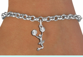 <br> WHOLESALE CHEER LEADING BRACELET<bR>                 EXCLUSIVELY OURS!!<BR>            AN ALLAN ROBIN DESIGN!!<BR>      CADMIUM, LEAD & NICKEL FREE!!<BR> W1399B2 - SPIRIT POM POMS JUMPING <Br>      CHEERLEADER CHARM & BRACELET <BR>                      $9.68 EACH  �2013