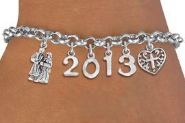 <br> WHOLESALE CHRISTIAN CHARM BRACELETS! <Br>                     EXCLUSIVELY OURS!!<Br>                AN ALLAN ROBIN DESIGN!!<Br>                  LEAD & NICKEL FREE!! <BR>           THIS IS A PERSONALIZED ITEM <Br>   W20393B - SILVER TONE LOBSTER CLASP <BR>   BAPTISM THEMED CUSTOM YEAR BRACELET <BR>           FROM $9.00 TO $20.00 �2013