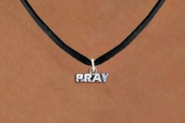 "<br>      WHOLESALE CHRISTIAN JEWELRY<bR>                  EXCLUSIVELY OURS!! <BR>             AN ALLAN ROBIN DESIGN!! <BR>    CLICK HERE TO SEE 1000+ EXCITING <BR>          CHANGES THAT YOU CAN MAKE! <BR>       CADMIUM, LEAD & NICKEL FREE!! <BR>   W1427SN - SILVER TONE WORD ""PRAY"" <Br>        RELIGIOUS CHARM ON NECKLACE <BR>            FROM $4.50 TO $8.35 �2013"