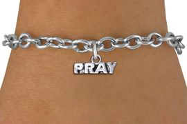 "<br>      WHOLESALE CHRISTIAN JEWELRY<bR>                  EXCLUSIVELY OURS!! <BR>             AN ALLAN ROBIN DESIGN!! <BR>     LICK HERE TO SEE 1000+ EXCITING <BR>          CHANGES THAT YOU CAN MAKE! <BR>       CADMIUM, LEAD & NICKEL FREE!! <BR>   W1427SB - SILVER TONE WORD ""PRAY"" <Br>          RELIGIOUS CHARM & BRACELET <BR>            FROM $4.15 TO $8.00 �2013"