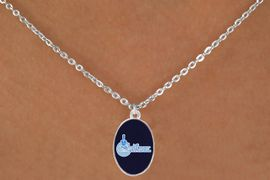 """<BR>      WHOLESALE CITADEL COLLEGE NECKLACE<Br>           LEAD & NICKEL FREE!! <Br>          OFFICIALLY LICENSED!! <bR>   W20237N - THE CITADEL MILITARY <Br> COLLEGE """"BULLDOGS"""" LOGO NECKLACE <BR>            FROM $3.94 TO $8.75"""