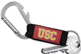 <bR>    WHOLESALE COLLEGE KEYCHAIN <BR>    OFFICIAL COLLEGIATE LICENSED!! <br>            LEAD & NICKEL FREE!!! <br>W20571KC - UNIVERSITY OF SOUTHERN CALIFORNIA <BR> CARABINER WITH BOTTLE OPENER AND <BR>      KEY CHAIN YOURS FOR $1.43 To $1.68 EACH �2013