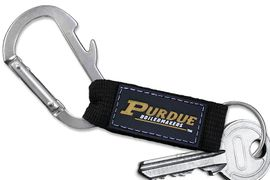 """<bR>    WHOLESALE COLLEGE KEYCHAIN <BR>    OFFICIAL COLLEGIATE LICENSED!! <br>            LEAD & NICKEL FREE!!! <br>W20572KC - PURDUE UNIVERSITY """"BOILERMAKERS"""" <BR> CARABINER WITH BOTTLE OPENER AND <BR>      KEY CHAIN FOR ONLY $3.53! �2013"""
