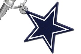 """<br>WHOLESALE  DALLAS COWBOY JEWELRY<bR>            LEAD & NICKEL FREE!!!<br>         OFFICIAL NFL LICENSED!!<br>   NATIONAL FOOTBALL LEAGUE!! <Br>  W19735KC - DALLAS COWBOYS <BR>""""STAR LOGO"""" LARGE RUBBER <BR>KEY CHAIN FROM $1.58 TO $4.25"""