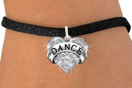 """<BR>      WHOLESALE DANCE BRACELET<bR>                EXCLUSIVELY OURS!! <Br>           AN ALLAN ROBIN DESIGN!! <BR>  CLICK HERE TO SEE 1000+ EXCITING <BR>        CHANGES THAT YOU CAN MAKE! <BR>     LEAD, NICKEL & CADMIUM FREE!! <BR> W1414SB - SILVER TONE """"DANCE"""" CLEAR <BR>    CRYSTAL HEART CHARM & BRACELET <BR>         FROM $5.40 TO $9.85 �2013"""