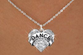 "<BR>                    DANCE NECKLACE<bR>                   EXCLUSIVELY OURS!! <Br>              AN ALLAN ROBIN DESIGN!! <BR>     CLICK HERE TO SEE 1000+ EXCITING <BR>           CHANGES THAT YOU CAN MAKE! <BR>        LEAD, NICKEL & CADMIUM FREE!! <BR>  W1414SN - SILVER TONE ""DANCE"" CLEAR <BR>     CRYSTAL HEART CHARM AND NECKLACE <BR>                         $9.68 EACH  �2013"