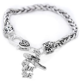 """<br>     WHOLESALE BALLET CHARM BRACELET  <bR>                 EXCLUSIVELY OURS!!   <BR>            AN ALLAN ROBIN DESIGN!!   <BR>      NICKEL, LEAD & CADMIUM FREE!!   <BR>    W1413B1 - DETAILED SILVER TONE   <Br>  """"ON YOUR TOES"""" BALLET SHOES CHARM  <BR> ON ANTIQUED SILVERTONE BRACELET   <BR>          FROM $5.40 TO $9.85 �2015"""