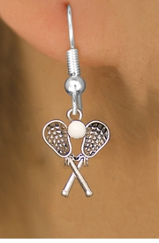 <BR>                         WHOLESALE FASHION JEWELRY <bR>                                    EXCLUSIVELY OURS!! <Br>                             AN ALLAN ROBIN DESIGN!! <BR>                      LEAD, NICKEL & CADMIUM FREE!! <BR>      W1584SE1- LACROSSE FISH HOOK EARRINGS WITH <BR>RUBBER BALL BRACELET FROM $5.25 TO $10.00 �2014