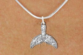 <BR>      WHOLESALE FASHION NECKLACE<bR>                   EXCLUSIVELY OURS!! <Br>              AN ALLAN ROBIN DESIGN!! <BR>     CLICK HERE TO SEE 1000+ EXCITING <BR>           CHANGES THAT YOU CAN MAKE! <BR>        LEAD, NICKEL & CADMIUM FREE!! <BR> W1420SN - SILVER TONE FISH TAIL FIN <BR>    CLEAR CRYSTAL CHARM AND NECKLACE <BR>            FROM $5.40 TO $9.85 �2013