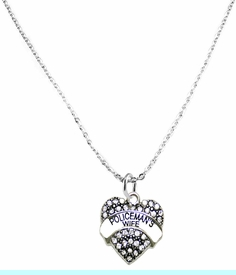<BR>   WHOLESALE FASHION POLICEMAN'S WIFE JEWELRY  <bR>                              EXCLUSIVELY OURS!!  <Br>                         AN ALLAN ROBIN DESIGN!  <BR>                   LEAD, NICKEL & CADMIUM FREE!!  <BR>              W1674SN1- ANTIQUED SILVER TONE AND  <BR>                      CLEAR CRYSTAL POLICEMAN'S WIFE<BR>           CHARM ON LOBSTER CLASP CHAIN NECKLACE  <BR>                       FROM $5.40 TO $9.85 �2015